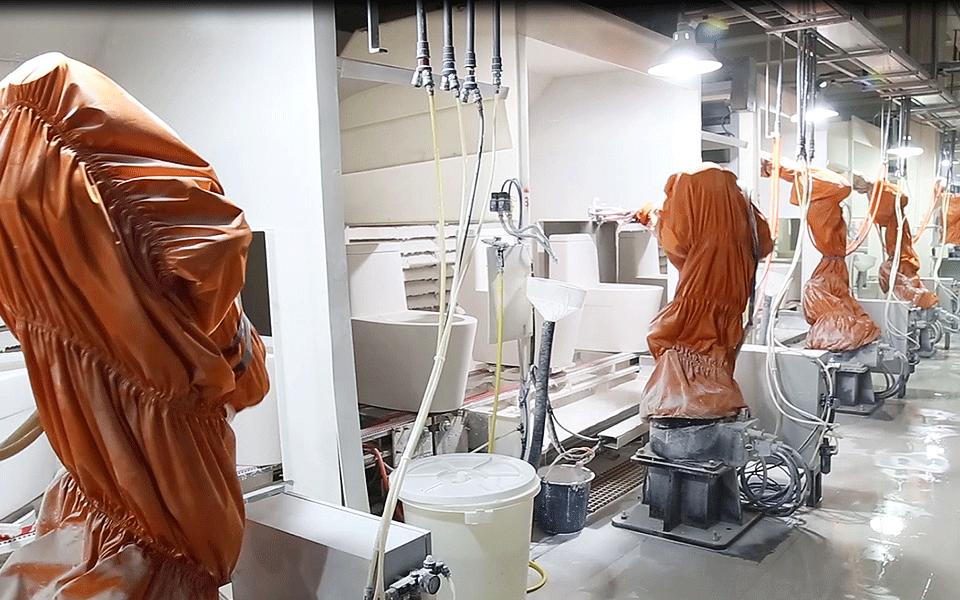 机器人喷釉