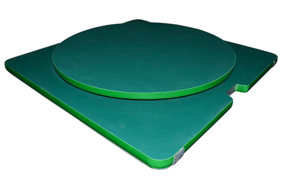 双层带圆形转盘工装板
