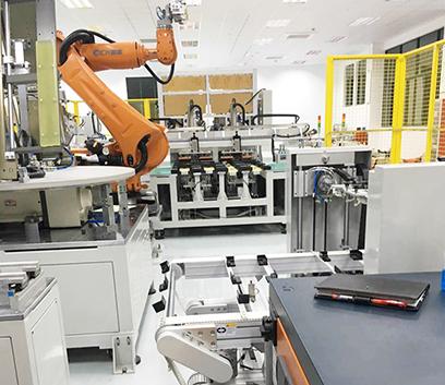 手机锂电池生产线